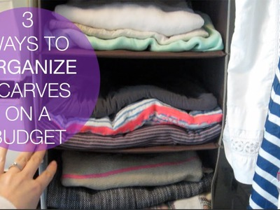 3 WAYS TO ORGANIZE SCARVES ON A BUDGET