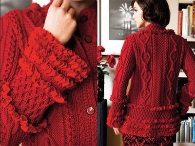 #5 Ruffled Cardigan, Vogue Knitting Winter 2012.13