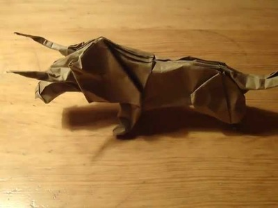 An origami great bull (not a tutorial)