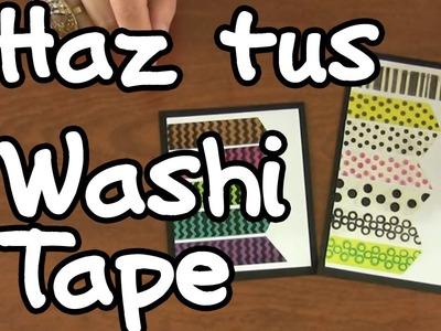 Aprende a hacer Washi Tape - Scrapbook DIY