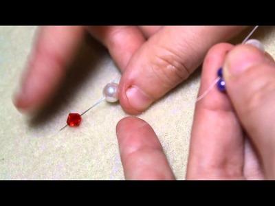 Beaded flower earring tutorial (Pt 1 of 2)
