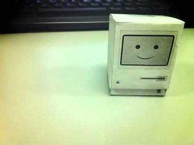 Classic Mac (Apple) Papercraft Stop Motion