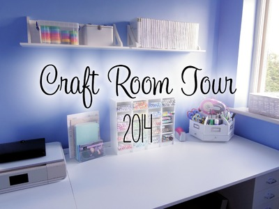 Craft Room Tour 2014 | The Card Grotto