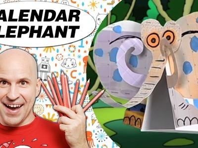 Crafts Ideas for Kids - Calendar Elephant | DIY on BoxYourSelf