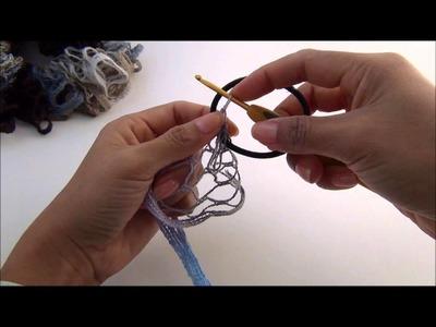 Creating a Scrunchy with Ruffle Yarn