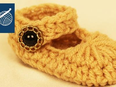 CROCHET BABY MARY JANE Bootie Slipper  - Left Hand Crochet Geek