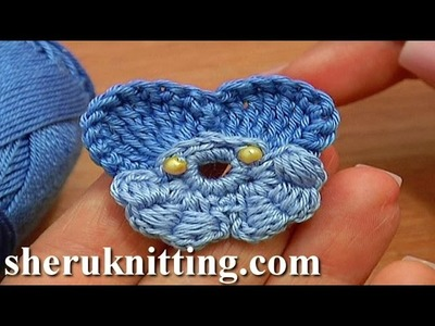 Crochet Beaded Center Pansy Flower Tutorial 64 Part 1 of 2 Quick to Crochet Two Color Pansy Flower