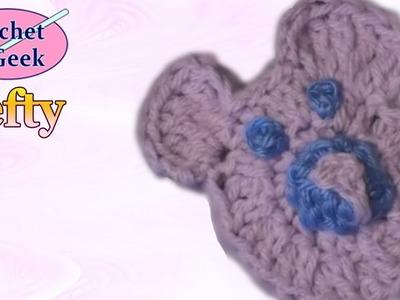 CROCHET BEAR APPLIQUE - Left Hand Version CrochetGeek Crochet Geek