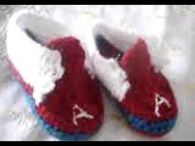 Crochet booties for my son