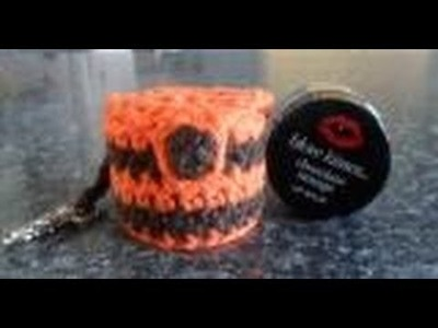 CROCHET TUTORIAL - LIP BALM KEYRING - MAKING THE LID AND BUTTON HOLE (PART 2)