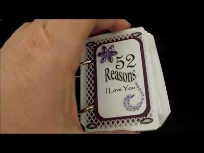 Cute craft idea - 52 Reasons I Love You