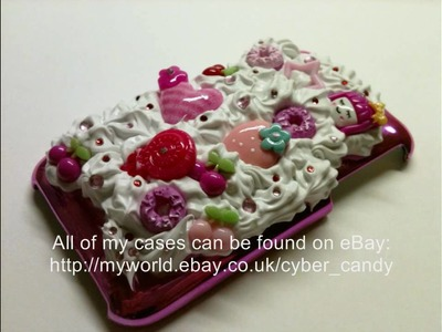 Decorated phone covers Barbie bling and whipped cream deco iphone Blackberry