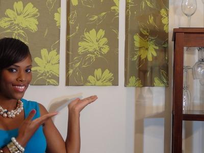 Decorating DIY: Fabric Wall Decor