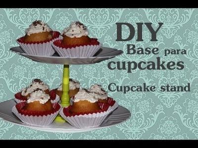 DIY Base para Cupcakes. Cupcake stand (dollar store craft)