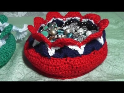 DIY crochet easter or jewelry basket - English