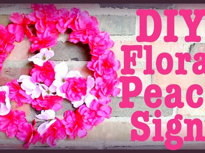 DIY: Flower Peace Sign! | Room Decor