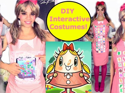 DIY Halloween Costume - Interactive Candy Crush Digital Costume Ideas