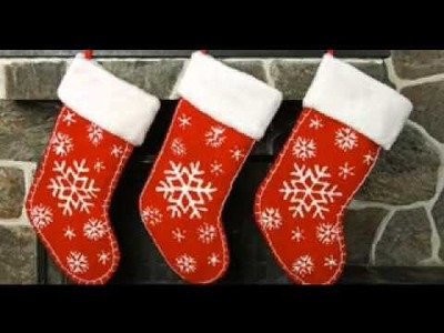 DIY Homemade christmas stocking decorating ideas