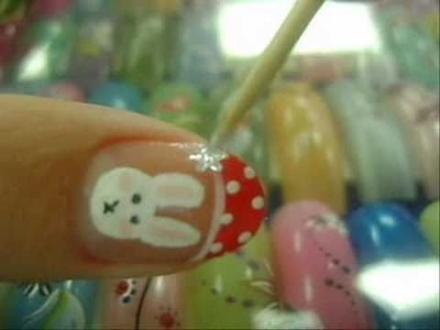 [DIY nails] Christmas Bunny Nail Design