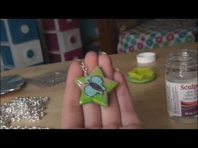 DIY: Polymer Clay Keychain with Image.