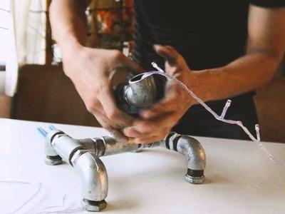 DIY Project - Beer Bottle Pipe Lamp