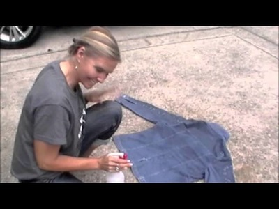 DIY Refashion Thrift Haul Denim Jacket with Bleach