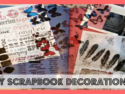DIY Scrapbook Planner Journal Stickers and Decorations
