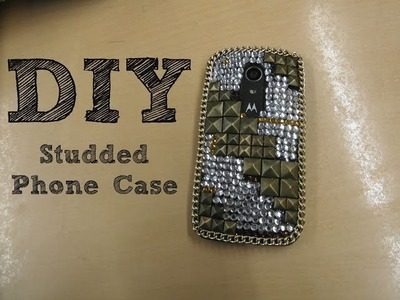 DIY Studded Phone Case. Tutorial. Bling Bling