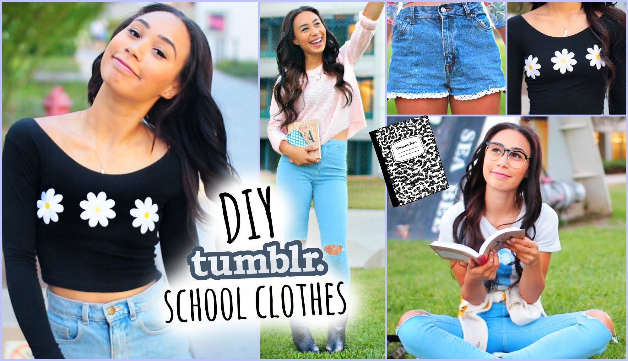 DIY Tumblr Inspired School Clothes! Shopping Life Hacks for Back To School 2014