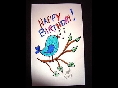 Draw a tweety bird, kids drawing lesson, simple kids crafts,