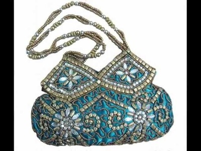 Evening Party Designer Stone Beaded Potli Bags From India