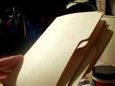 File Folder Mini Album pre-decorated paper following Michelle Paper Addiction tutorial