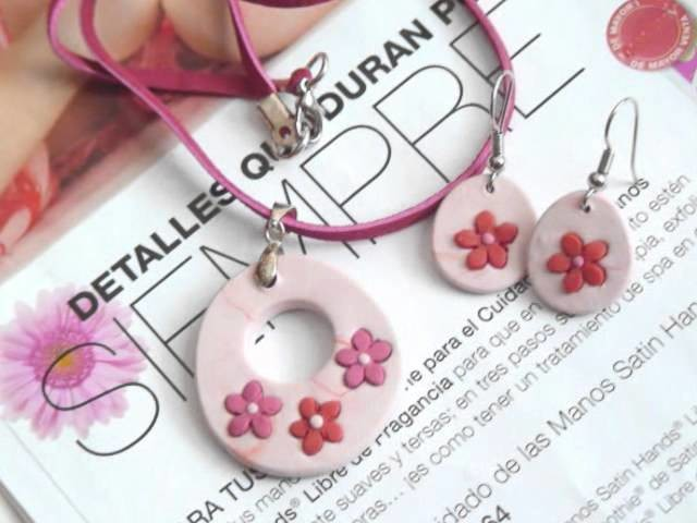 Fimo or Sculpey jewelry, Handmade. Resin and metal beads.Bisuteria de fimo sculpey y resina