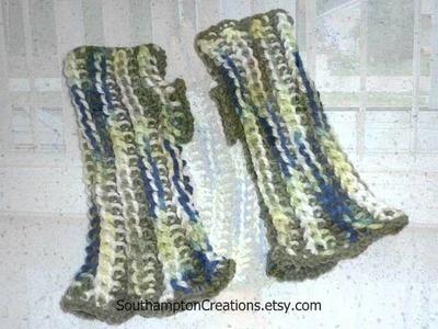 Fingerless Gloves Mittens, Cowl Crochet by My Mom's Etsy Shop