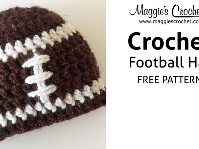 Football Hat Free Crochet Pattern - Right Handed