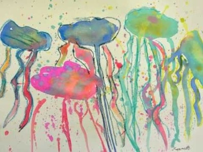 Fourth Grade Jelly fish Art Lesson