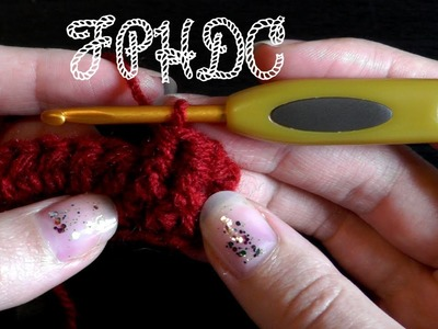 Front post half double crochet - Crochet basics