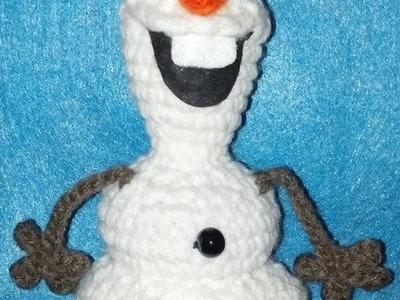 Frozen Inspired Olaf - Like Crochet Snowman HEAD Body Part 4