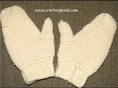 How to Crochet Adult Mittens Tutorial Part I