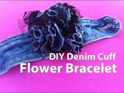 How to make a denim cuff flower bracelet | Nik Scott