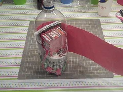 How to make a gift holder using a soda bottle