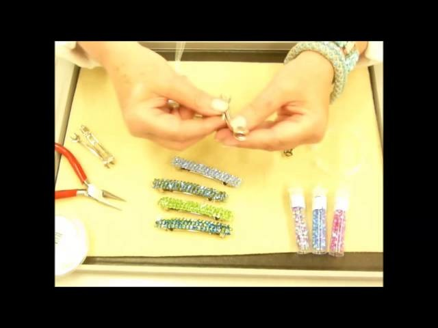 How to make a Hair Bling Crystal Barrette Kit