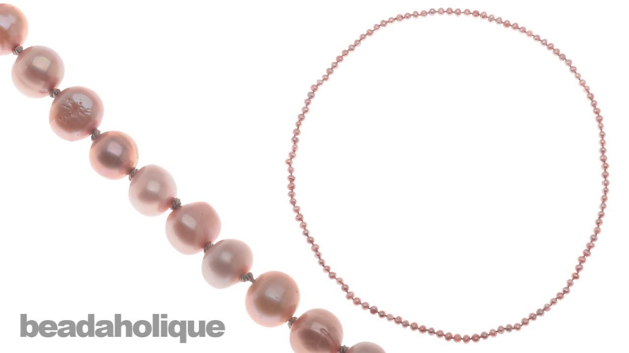 How to Make a Knotted Pearl Necklace without a Clasp