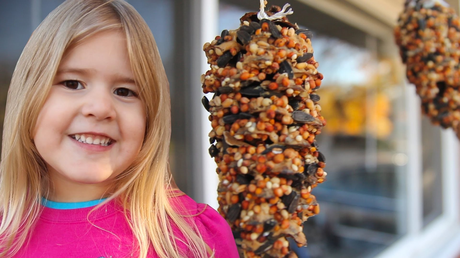 How To Make a Pine Cone Bird Feeder [Crafts for Kids #5]