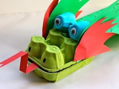 How to make an egg carton dragon