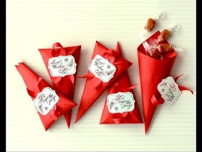 Ideas for Easter! Favor Cones.  Easy to do. Gift wrap