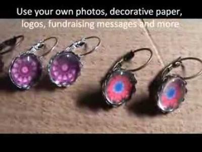 Inspirational handmade Earring Crafts You Can Make, 12mm Earring Bezel Craft Trays