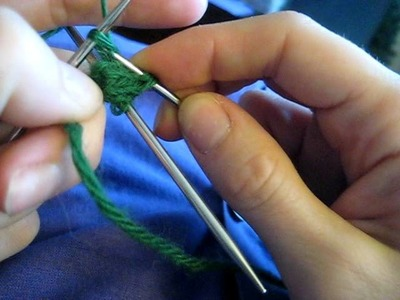 Knitting in the Round on Two Double Pointed Needles (Requires 3 Needles)