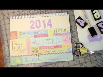 Last Minute Gift! Make a Scrapbook Calendar!