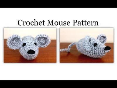 Left Hand Crochet Mouse Pattern - Easy Amigurumi Pattern